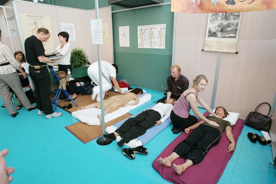 Démonstration de massage